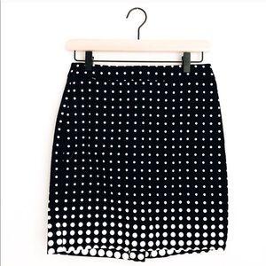 J CREW • the pencil skirt in polka dot